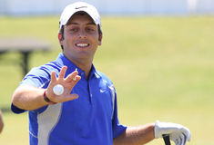 Francesco Molinari no francês do golfe abre 2010 Fotografia de Stock
