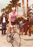 Francesco Moser at the Cycling Tour of Italy Royalty Free Stock Photo