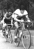 Francesco Moser at the Cycling Tour of Italy Stock Image