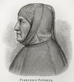 Francesco Petrarca Petrarch Photographie stock