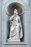 Francesco Petrarca statue, Florence Royalty Free Stock Photography