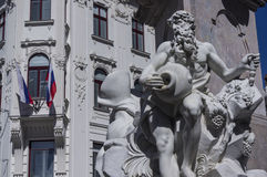 Francesco Robba fontanna Fotografia Stock