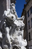 Francesco Robba fountain. At Town Square in Ljubljana Royalty Free Stock Photography