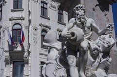 Francesco Robba springbrunn Arkivbild
