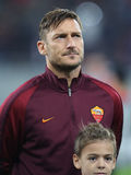 Francesco Totti. Player of AS Roma, pictured before the Europa League match against Astra Giurgiu, 0-0 the final score royalty free stock photography