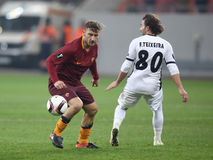 Francesco Totti. Player of AS Roma, pictured during the Europa League match against Astra Giurgiu, 0-0 the final score royalty free stock photo