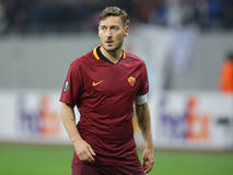 Francesco Totti. Player of AS Roma, pictured during the Europa League match against Astra Giurgiu, 0-0 the final score royalty free stock photos