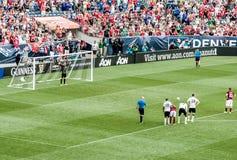 Francesco Totti prenant une penalty Photographie stock libre de droits