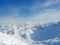 Francese Alpes dell'intervallo di montagna dello Snowy Immagini Stock