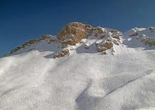 Francese Alpes dell'intervallo di montagna dello Snowy Immagine Stock Libera da Diritti