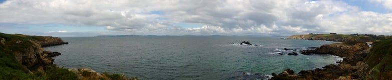 Francese Coast_Panoramic Fotografia Stock