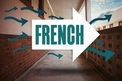 Francese contro il corridoio vuoto illustrazione vettoriale