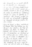 Francese indefinito del testo Lettera scritta a mano handwriting Fotografia Stock Libera da Diritti