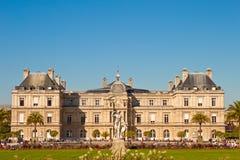 Francese Senat in Jardin du Lussemburgo Fotografia Stock Libera da Diritti