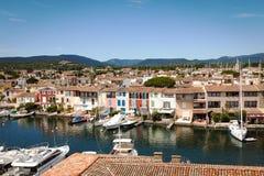 Francese Venezia - porto Grimaud Immagine Stock