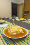 Francesinha with hot sauce. And egg Royalty Free Stock Photos