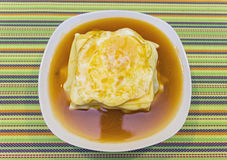 Francesinha with hot sauce. And egg Stock Photo