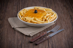 Francesinha on plate Royalty Free Stock Photo