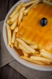 Francesinha on plate Stock Photography