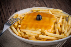Francesinha on plate stock images
