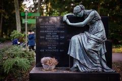 Francfort, Alemania - 5 de febrero de 2019: El cementerio Hauptfriedhof en Francfort imágenes de archivo libres de regalías
