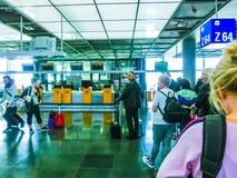 Francfort, Allemagne - 28 avril 2018 : À l'intérieur de Francfort Pearson Airport à Francfort, l'Allemagne le 28 avril 2018 image stock