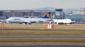FRANCFORT, ALLEMAGNE - 28 février 2015 : Lufthansa Boeing 747 - MSN 28287 - D-ABVT, appelés le Rhénanie-Palatinat allant prendre Images stock