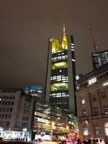 Francfort Commerzbanktower foto de archivo libre de regalías
