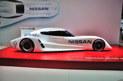 FRANCFORT - DE SEPT. EL 14: Coche de Nissan Unveils Electric Zeod Race prese Foto de archivo