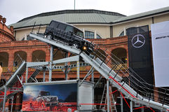 FRANCFORT - DE SEPT. EL 14: G-clase AMG V8 de Mercedes Benz presentado como w Imágenes de archivo libres de regalías