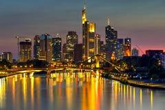Francfort et principal, Allemagne Photo stock