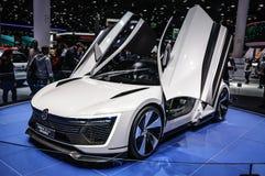 FRANCFORT - SEPTEMBRE 2015 : Sport de Volkswagen VW Golf présenté à IAA photographie stock