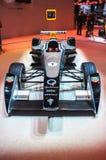 FRANCFORT - SEPTEMBRE 21 : Voiture de course de la formule E d'Étincelle-Renault présentée Images libres de droits