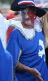 Franch football fan stock photography