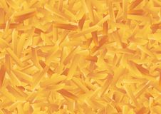 Vector French fries seamless pattern background royalty free illustration