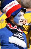 Franch Fußballfan Stockfotos
