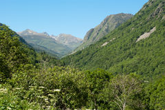 Franch Pyrenees view to Andorra royalty free stock photo
