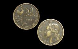 50 franchi francesi 1951 Immagini Stock Libere da Diritti