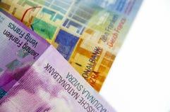 Franchi svizzeri Fotografia Stock Libera da Diritti