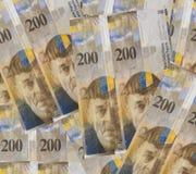 Franchi svizzeri di soldi Immagini Stock