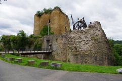 Franchimont-Schloss in Belgien lizenzfreies stockfoto