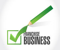 franchise business approval check sign Royalty Free Stock Photo