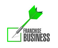 Franchise business check dart sign Stock Images
