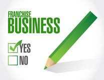 Franchise business check sign Stock Photo