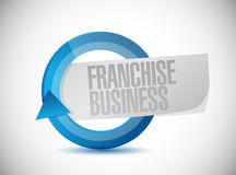 Franchise business cycle sign illustration design Stock Photography