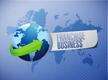 Franchise business globe sign illustration design Royalty Free Stock Photos