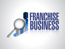 Franchise business graph sign Stock Image