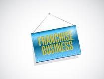Franchise business hanging banner illustration Stock Image