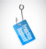 Franchise business hook tag sign Stock Photo
