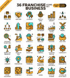 Franchise business icons Royalty Free Stock Photography